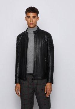 BOSS - JEEAN 1 - Leather jacket - black