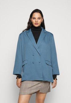 Missguided Plus - GRANDAD SIDE SPLIT  - Manteau court - blue