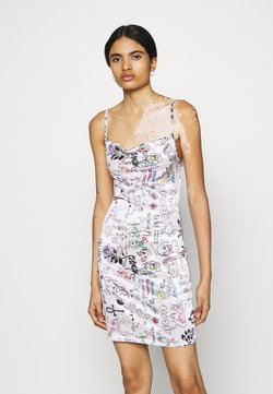 NEW girl ORDER - SCRIBBLE DRESS - Cocktailkleid/festliches Kleid - pink