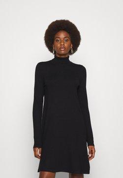 Vero Moda Tall - VMHAPPINESS ROLLNECK DRESS - Neulemekko - black