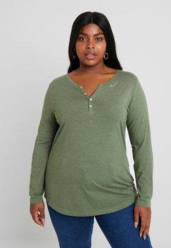 Ragwear Plus - LYVUSHA ORGANIC LONG SLEEVE TEE - Langarmshirt - green