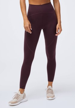 OYSHO - COMPRESSION - Tights - bordeaux