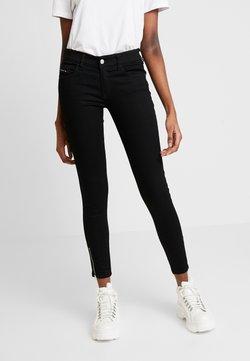 Diesel - SLANDY LOW ZIP - Jeans Skinny Fit - black
