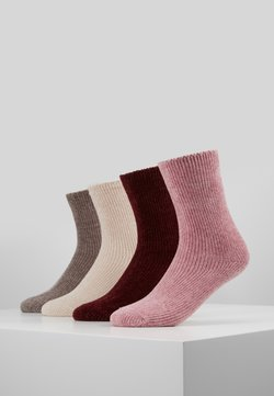 camano - CHINILLE SOCKS 4 PACK - Socken - bordeaux