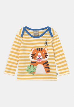 Frugi - BOBBY APPLIQUE TIGER UNISEX - Camiseta de manga larga - yellow
