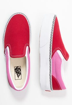 Vans - CLASSIC SLIP-ON PLATFORM - Scarpe senza lacci - chili pepper/fuchsia pink
