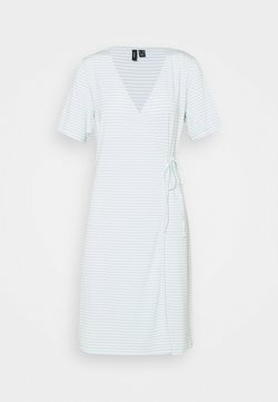 Vero Moda Tall - VMKATE SHORT DRESS - Jerseyklänning - icy morn/white