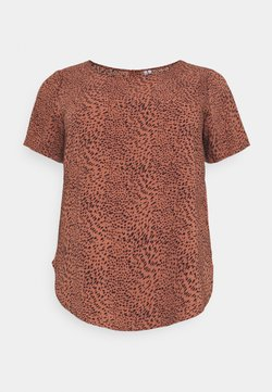 ONLY Carmakoma - CARLUXMAJA  - T-Shirt print - cedar wood