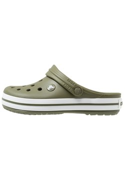 Crocs - CROCBAND UNISEX - Clogs - army green/white