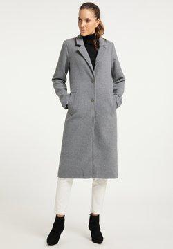 DreiMaster - Klasyczny płaszcz - hellgrau melange