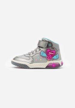Geox - INEK GIRL - Sneaker high - dark silver/fuchsia