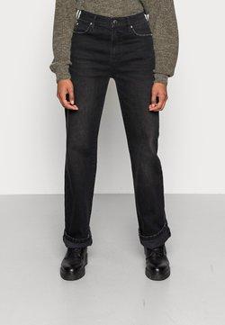 Ivy Copenhagen - MIA STRAIGHT WASH NEW YORK BLACK - Straight leg jeans - black
