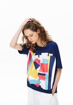 Lacoste - TEE - T-shirt z nadrukiem - bleu marine