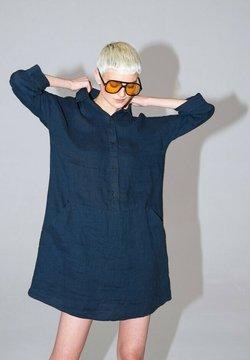 Hexeline - Sukienka koszulowa - granat