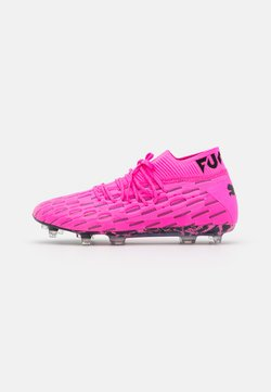 Puma - FUTURE 6.1 NETFIT FG/AG - Moulded stud football boots - luminous pink/black