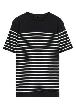 Massimo Dutti - T-Shirt print - blue black denim