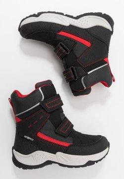 Geox - SENTIERO BOY WPF - Snowboot/Winterstiefel - black/red