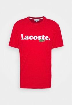 Lacoste - T-shirt imprimé - rouge