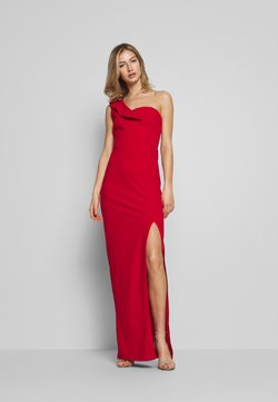 WAL G. - OFF THE SHOULDER FRILL DETAIL MAXI DRESS - Vestido de fiesta - red