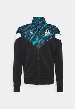 Puma - OLYMPIQUE MARSEILLE ICONIC GRAPHIC TRACK - Club wear - black/white
