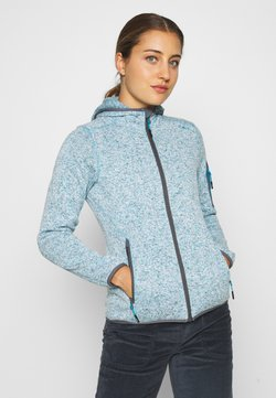 CMP - WOMAN JACKET FIX HOOD - Veste polaire - danubio melange/graffite