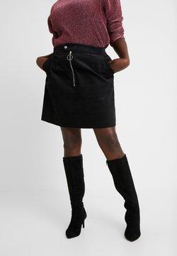 Glamorous Curve - RING PULL SKIRT - Minirock - black