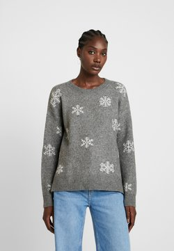 edc by Esprit - JACQUARD - Pullover - gunmetal