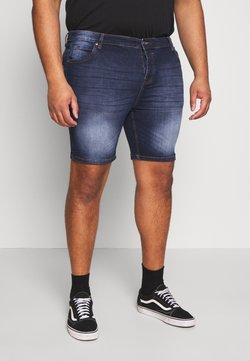 Brave Soul - SIMON - Jeansshort - dark blue wash