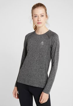 ODLO - CREW NECK SEAMLESS ELEMENT - Camiseta de manga larga - grey melange