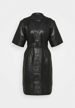 Selected Femme - SLFMARIE BELTED DRESS  - Blousejurk - black