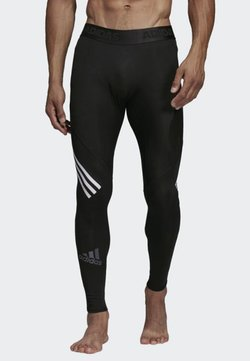 adidas Performance - Alphaskin Sport+ Long 3-Stripes Tights - Tights - black