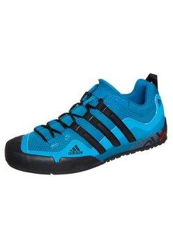 adidas Performance - TERREX SWIFT SOLO HIKING SHOES - Hikingschuh - dark solar blue/black