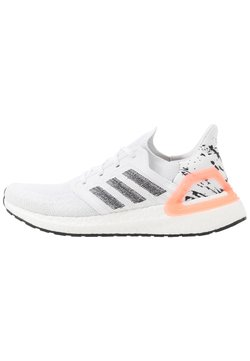 adidas Performance - ULTRABOOST 20 PRIMEKNIT RUNNING SHOES - Laufschuh Neutral - footwear white/core black/signal coral