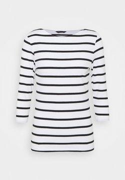 Marks & Spencer London - FITTED STRIPE - Langarmshirt - black