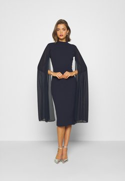 WAL G. - CAPE SLEEVE DRESS - Cocktailkleid/festliches Kleid - navy blue