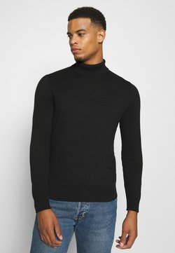 Burton Menswear London - FINE GAUGE ROLL  - Strickpullover - black