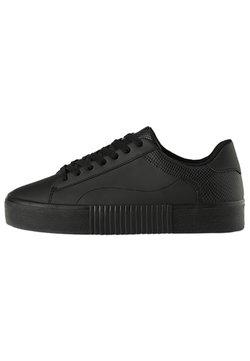 Bershka - MIT TIERPRÄGUNG - Sneaker low - black