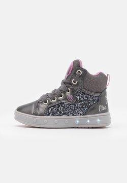 Geox - DISNEY FROZEN SKYLIN GIRL - Sneaker high - dark grey/lilac