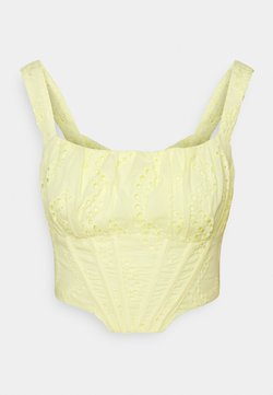 Missguided - BRODERIE CORSET - Top - yellow