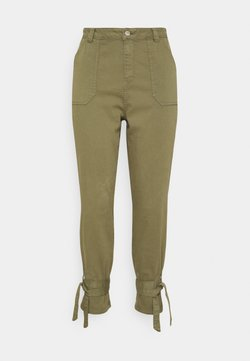 Simply Be - TIE TROUSERS - Jeans Tapered Fit - khaki