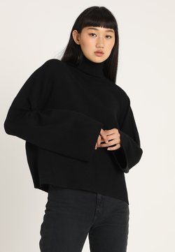 Noisy May - NMSHIP ROLL NECK - Strickpullover - black