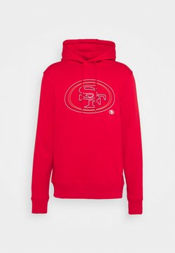 Fanatics - NFL SAN FRANCISCO 49ERS GLOW CORE GRAPHIC HOODIE - Pelipaita - game red