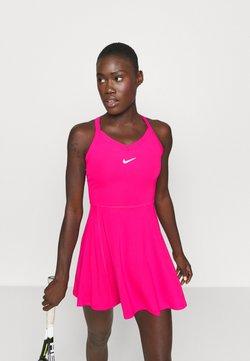 Nike Performance - DRY DRESS - Robe de sport - vivid pink/white