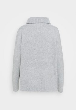 Vero Moda - VMDOFFY COWLNECK - Strickpullover - light grey melange