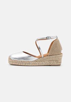 Unisa - CAUDE - Platform sandals - silver
