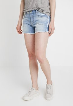 G-Star - 3301 FRINGE MID BOYFRIEND - Shorts di jeans - vintage aged destroy
