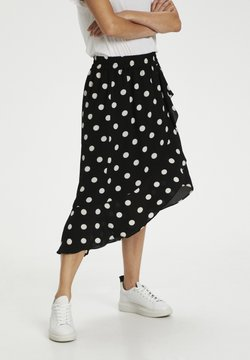 InWear - A-linjainen hame - black / white smoke polka dot