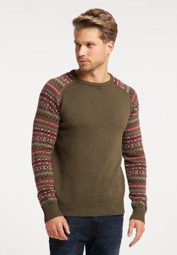 Mo - Stickad tröja - multicolor oliv