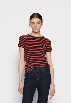 Tommy Hilfiger - SKINNY OPEN - T-Shirt print - blue
