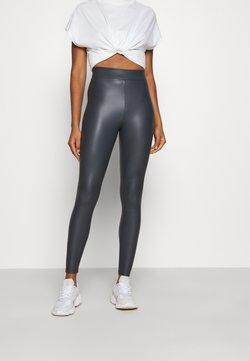Topshop - LEATHER LOOK  - Spodnie materiałowe - teal